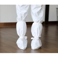 China Ebola  Disposable Shoe Covers , Nonwoven Boot Cover With Tie Or Elastic on sale