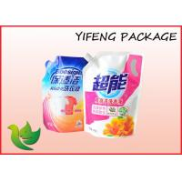 China Laundry Detergent Stand Up Pouch with Spout , Liquid Spout Bag on sale