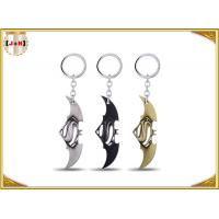 Quality Game Sword Silver Brass Colored Metal Tiny Key Rings For Promotion Zinc Alloy Material wholesale