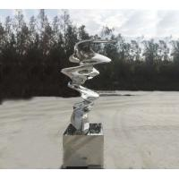 Quality 2.5 Meter Height Stainless Steel Large Garden Sculpture For Plaza Decoration wholesale