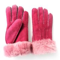 Cheap 2018 very comfortable and soft real lamb fur shearing sheep skin fashion women gloves for sale