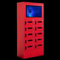 China Electronic Cell Phone Storage Cabinet Lcd Screen Fireproof For Staff Deposit on sale