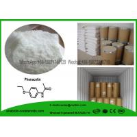 Buy cheap CAS 62-44-2  Painkiller Local Anesthetic Drugs Phenacetin , Acetophenetidin White Powder from wholesalers