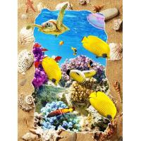 Quality 5d Deep Effect Ocean Feature Images Custom Lenticular Printing For Office / Hotel Decoration wholesale