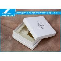 Buy cheap Handmade Luxury Cosmetic Packaging Boxes / Storage Box With White EVA Insert product