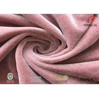 Quality Bright Shiny Korea Plush Velvet Fabric , 4 Way Stretch Soft Velboa Fabric wholesale