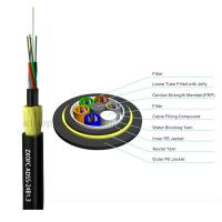 Cheap Double Jacket Self Supporting Fiber Optic Cable , Outdoor Dielectric Fiber Cable for sale