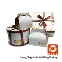 Quality Custom Made Cake Packaging Boxes , Cardboard Handmade Cake Box Packaging wholesale