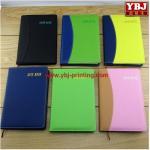 Quality china guangzhou ybj cheap high quality A5 pu leather note book wholesale