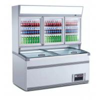 China 2.5m Upright Combination Freezer And Chiller With Large Space For Supermarket on sale