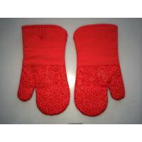 Cheap Red Finger Oven Mitts Heat Resistant Kitchen Gloves