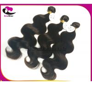 China Supreme Quality 100% Human Hair Dark Brown Brazilian Virgin Hair Body Wave No Shedding No Tangle Guaranteed on sale