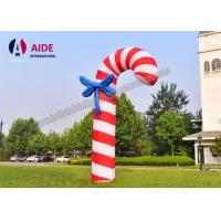 Quality 3 M Christmas Candy Cane Inflatable Holiday Decor Santa Gift Red Oxford Cloth wholesale