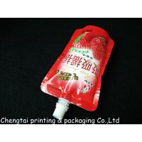 Cheap Moisture Proof 200 Ml & 250 Ml Liquid Spout Bags In Instant Drink Food Packaging for sale