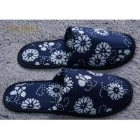 China Anti Bacterial And Non Slip Disposable Hotel Slippers Linen Peep Toe on sale