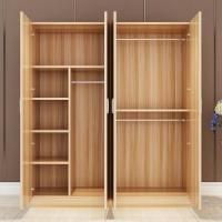 China Melamine MFC Surface Particle Board Wardrobe Aluminum Swing Door Trouser Rack on sale