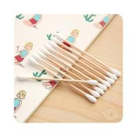 Quality Lightweight Medical Cotton Swabs Wooden Stick Convenient Anti Bacterial wholesale