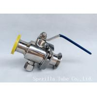 Quality DN25 TP316L THREADED BALL VALVE BPE VALVES SANITARY FITTINGS POLSIHED wholesale