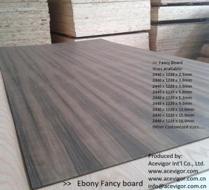 Cheap Ebony Fancy Plywood 1220 x 2440mm for sale