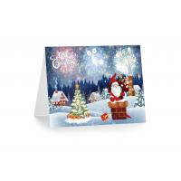 Quality 3D 12x17cm Greeting Card Lenticular Printing Services  With Customized X-mas Images wholesale
