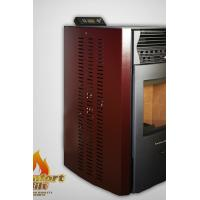 Quality Professional Auto Ignition Pellet Stove Without Electricity Red / Almond Color wholesale