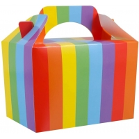 China Rainbow Small Snacks Food Assemble Cardboard Cake Boxes on sale