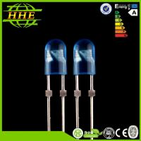 China 0.06W Diffused Oval 5mm Blue LED emitting diode 460nm - 470nm on sale
