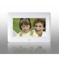 Cheap White 7 Inch TFT High Resolution Digital Picture Frame With USB 2.0 Interface for sale