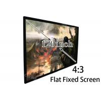 China Easy Install 120 Inch 4 3 Projection Screen , Flat Projector Screen Stages / Trade Shows on sale
