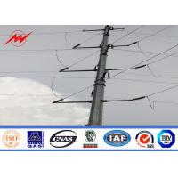 China Power Line 11m 8KN Electrical Power Pole With Galvanizing Surface Treatment on sale