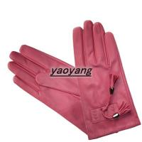 Quality 2015 new style and fasion good quality women sheep leather gloves YYLL068 wholesale