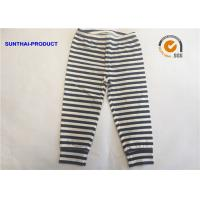 Quality White Black Plain Baby Clothes 100% Cotton Y.D Striped Baby Leggings For Fall / Winter wholesale