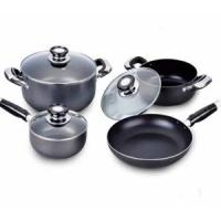 Quality aluminum non-stick cookware set 7pcs wholesale