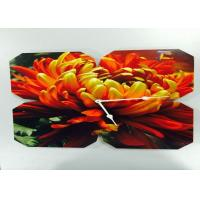 Quality Large Flower Shaped Picture Frame Clocks Ultra Thin , CE ROHS Certified wholesale