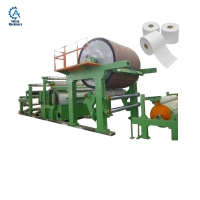China Paper production line facial tissue paper making machine wheat straw paper yankee machine on sale