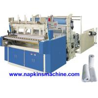 Quality Horizontal Jumbo Roll Toilet Paper Roll Making Machine , Electric / Pneumatic Control wholesale