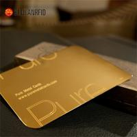 China Customize Cheap Embossed Thick Plastic Pvc Luxury Foil Gold Metal Business Cards Printing on sale