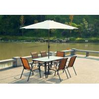 China 2.75M Family Outdoor Wooden Sunbrella Patio Umbrellas With Table And Chairs on sale