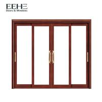 Quality Security White Aluminium Sliding Patio Doors With Heat Transfer Surface Finish wholesale