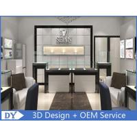 Cheap Customized Store Jewelry Display Cases With S / S + Wooden + Glass Material for sale