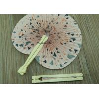 China Ball Globe Type Plastic Hand Held Fans Unique Design Flower Theme on sale