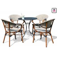 Quality Backyard Patio Furniture Round / Square Outdoor Dining Table With Textoline Garden Chairs  wholesale