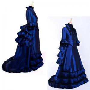 Quality Medieval Dress Wholesale XXS to XXXL Custom Made Blue Medieval Renaissance Fancy Victorian Gothic Dress Cosplay wholesale