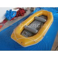 Quality Yellow 2.0mm Thick Inflatable River Rafting Boat For Rental Business wholesale