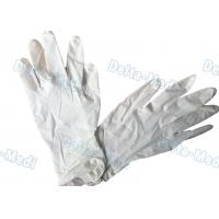 China Natural Rubber Disposable Surgical Gloves Latex Examination 18g - 24g on sale