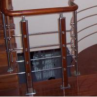 China Wooden Handrail Baluster , 6mm Solid Aluminum Alloy Staircase Iron Balusters on sale