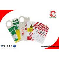 Quality OEM Custom Made Safety Plastic Label Tags Lockout PVC Tags and Warning Signs wholesale