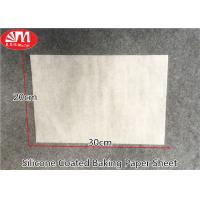 Cheap Waterproof Silicone Baking Paper Sheets 0.045-0.05mm Thickness Withstand Higher Temp for sale