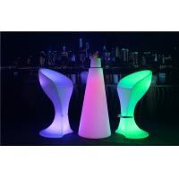 Quality PE Plastic Full Color Led Glow Furniture With Metal Treadle / LED Bar Stool wholesale