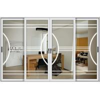 Quality 1.6mm profile thickness powder coated aluminum sliding glass doors with mosquito net wholesale
